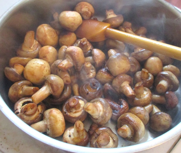 saute mushroom in ghee or butter until starting to lightly brown