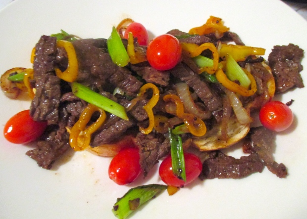 Sauteed Skirt Steak, Onion, Tomato & Peppers