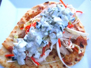 top slaw with tzatziki