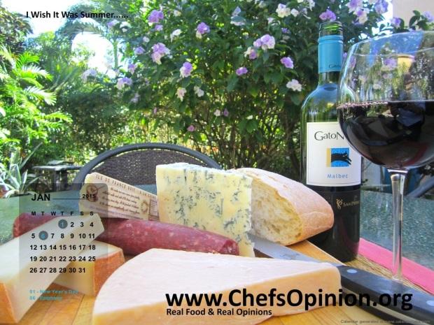 ChefsOpinion January Calendar. International Edition