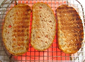 toast seeded rye bread or bread of your choice