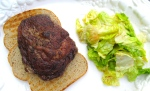 arrange steak on top of toasted bread