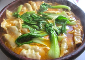 simmer bok choy for no more than 2 minutes, to serve, add sliced scallions