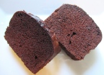 cut chocolate poundcake into thick slices