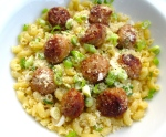 sprinkle with sliced scallions and grated parmesan