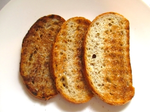 arrange bread on serving dish