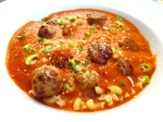 Tomato Soup With Spicy Sausage & Pasta