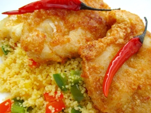 Chili-Kissed Chicken Cutlets With Couscous