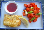 serve cod and carrots with fresh lemon wedge and thai chili sauce