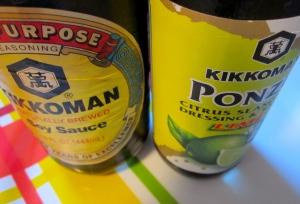 add ponzu seasoning, soy sauce