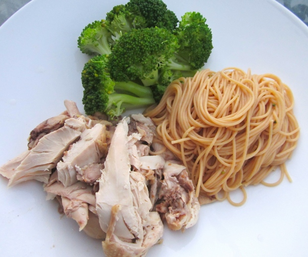 Chicken Noodle Soup (Cornish hen, Whole Grain Pasta, Broccoli)