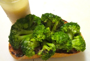 top bread with broccoli