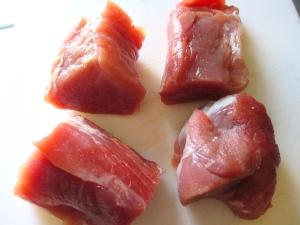 trim pork tenderloin of all silver skin, cut, flatten into medallions, season with kosher salt and freshly ground black pepper