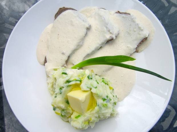 Colcannon, Corned Beef & Horseradish Sauce