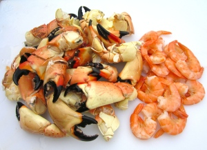 Stone Crab Legs & Shrimp