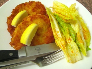 Panko Breaded Chicken Breast & Romaine Leaves In Sun Dried Tomato Dressing