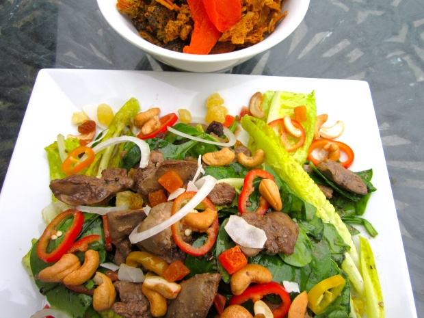 serve with vegetable chips and dried fruits