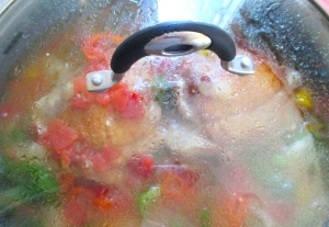 simmer covered until turkey legs are done, about 20 minutes