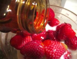 add honey or fruit nectar
