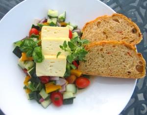 Limburger Salad And Jalapeno / Cheddar Bread