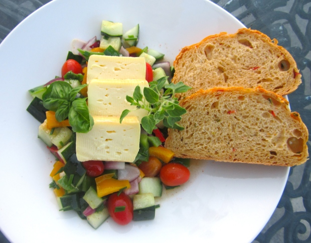 Limburger Salad and Jalapapeno / Cheddar Bread