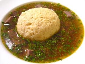 Matzoball  & Corned Beef Soup