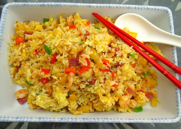 Shrimp And Lap Chea Fried Rice