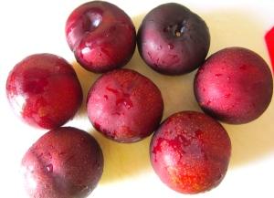 fresh black plums