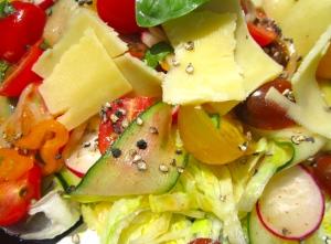 Salad And Irish Cheddar