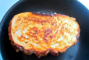 saute or griddle bread on both sides until golden