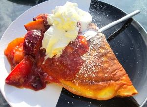 Buttermilk Pancakes With Caramelized Black Plums
