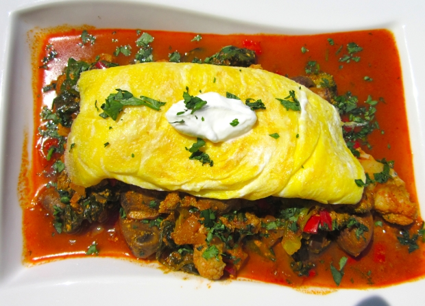 Bombay Vegetable Omelette