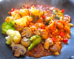 "add curry sauce (see link to""easy does it - curry)"