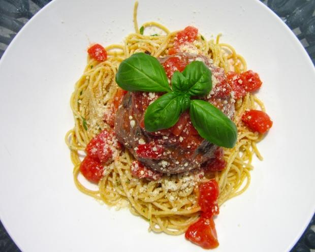 Hans' Giant Balls - Italian Meatballs With Spaghetti Aglio E Burro