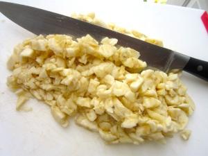 chop 4 large bananas