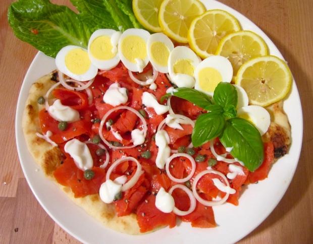 Breakfast of Champions # 48 - Smoked Salmon On Naan