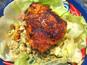 top with chicken breast