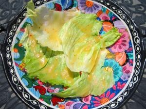 add lettuce in  honey/mustard dressing