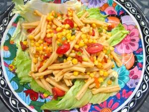 top with pasta salad
