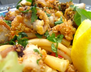 Pasta Salad With Squid And Sun-Dried Tomatoes