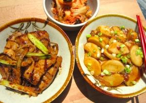 Dwaeji Bulgogi, Tteokbokki And Kimchi
