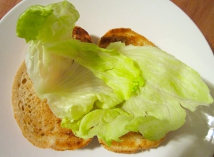 top with lettuce
