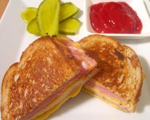 Griddle Ham & Cheese Sandwich