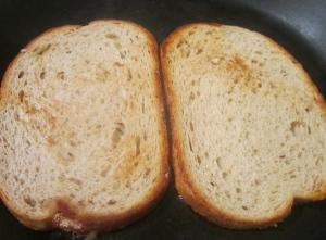 griddle one side of each slice of bread until golden