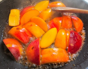 when caramelized, remove from heat, ad a dash of lemon juice and a few drops of organic vanilla extract