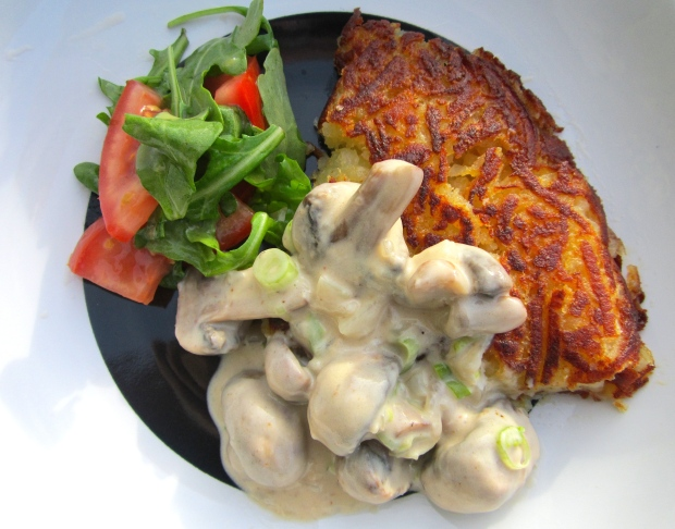 Rösti With Creamy Mushrooms