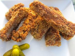 Cornmeal Dusted Sauteed Pork Ribs