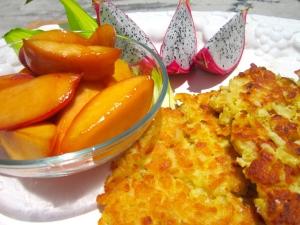 Latkes With Caramelized Nectarines