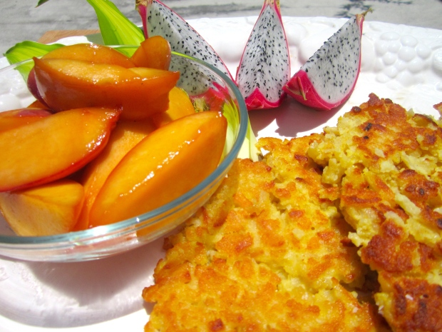 Latkes With Caramelized Nectarines