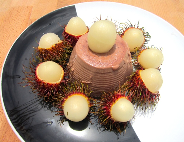 Panna Cotta With Rum-Macerated Rambutan
